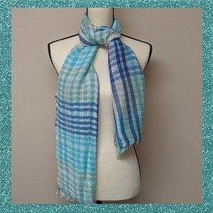 COLLECTION XIIX 'SHIMMER BLUES' Paisley Wrap/Scarf